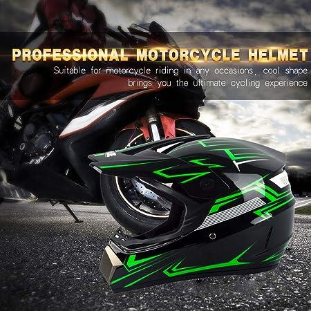 Uigjiog Motorrad Crosshelm Mit Brille 4 Stück Adult Motocross Helm Erwachsener Off Road Fullface Mtb Helm Mopedhelm Motorradhelm Für Damen Herren Sicherheit Schutz Sport Freizeit