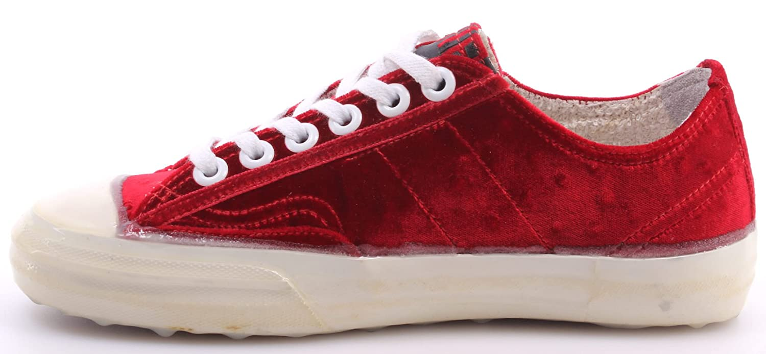 GOLDEN GOOSE Calzado Sneakers Mujer V-Star2 Red Velvet Ostrich Made In Italy New j3dXkd