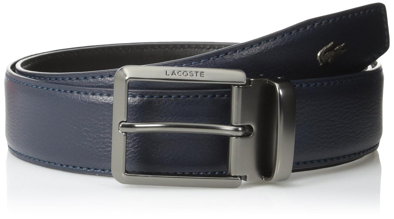 a7d982a674e881 Lacoste Men s Men s Premium Leather Metal Croc Belt at Amazon Men s  Clothing store