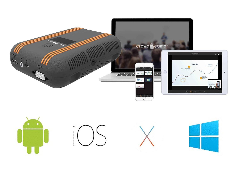 crowdbeamer Go Incluye batería + WiFi autónomo (hasta 25 ...
