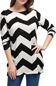 Sweepstakes: Allegra K Women's Chevron Pattern Long Sleeves Knitted Relax...