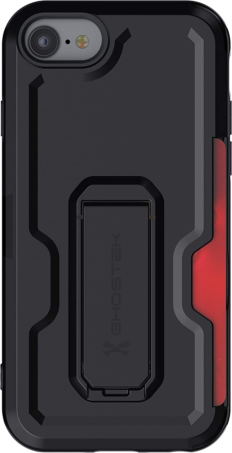 Ghostek Iron Armor Belt Clip iPhone SE (2020) Case with Holster, Card Holder and Stand Protective Full Body Cover with Heavy Duty Protection Slim Matte Design iPhone SE (2020) (4.7