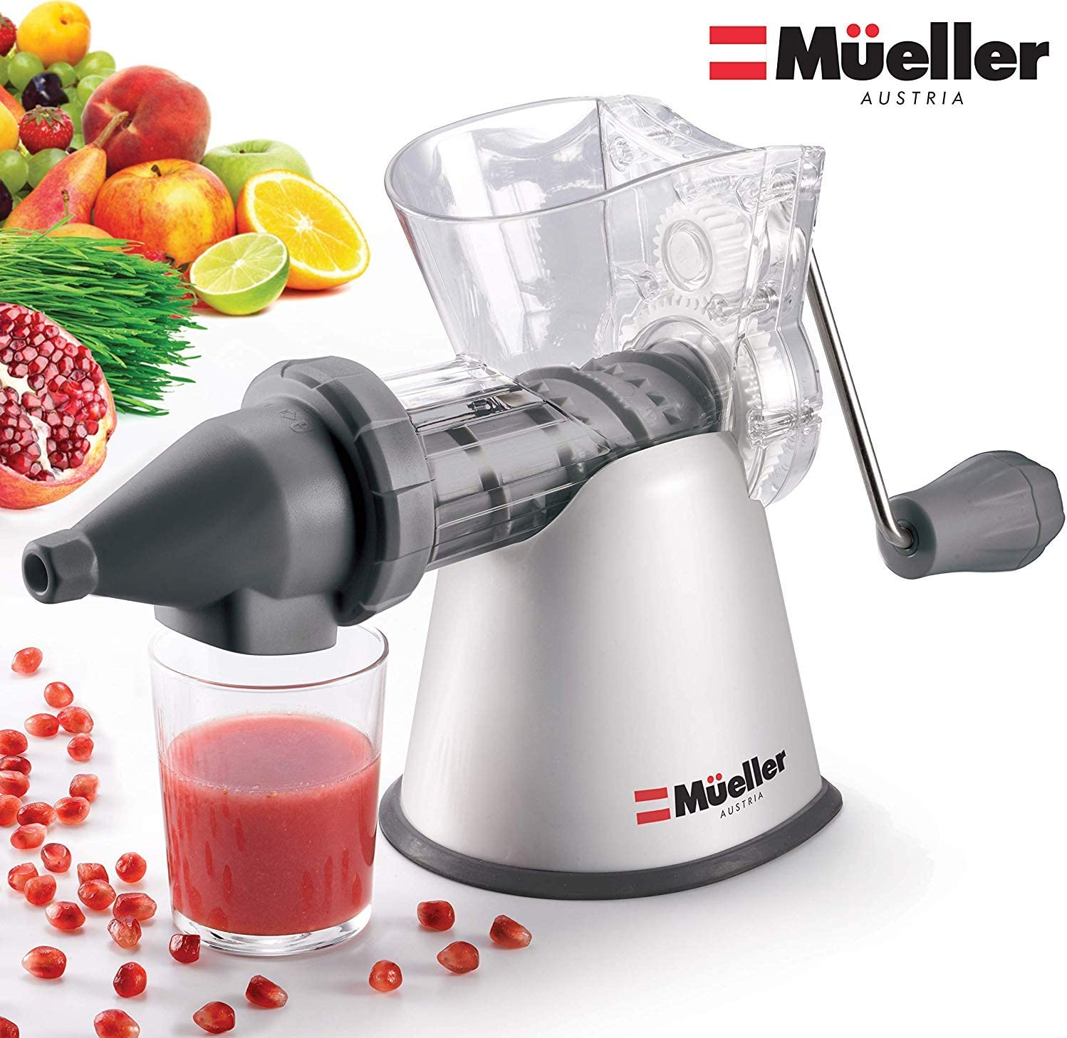 Mueller Elite Masticating Slow Fruit/Vegetable Wheatgrass Juicer