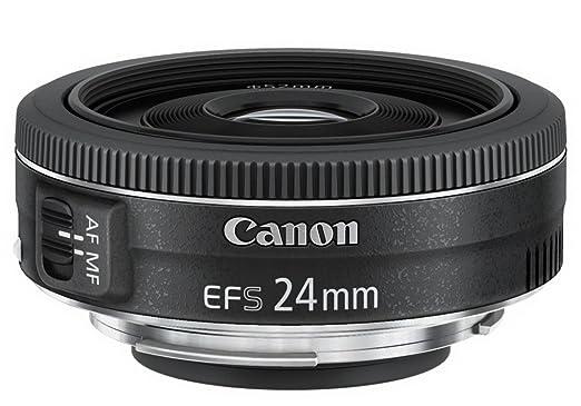 203 opinioni per Canon EF-S2428STM Obiettivo Pancake 24 mm F/2,8 STM, Nero/Antracite