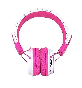 Zealot Stella - Auriculares estéreo inalámbricos con Bluetooth, radio portátil, tarjeta TF, color rosa: Amazon.es: Electrónica
