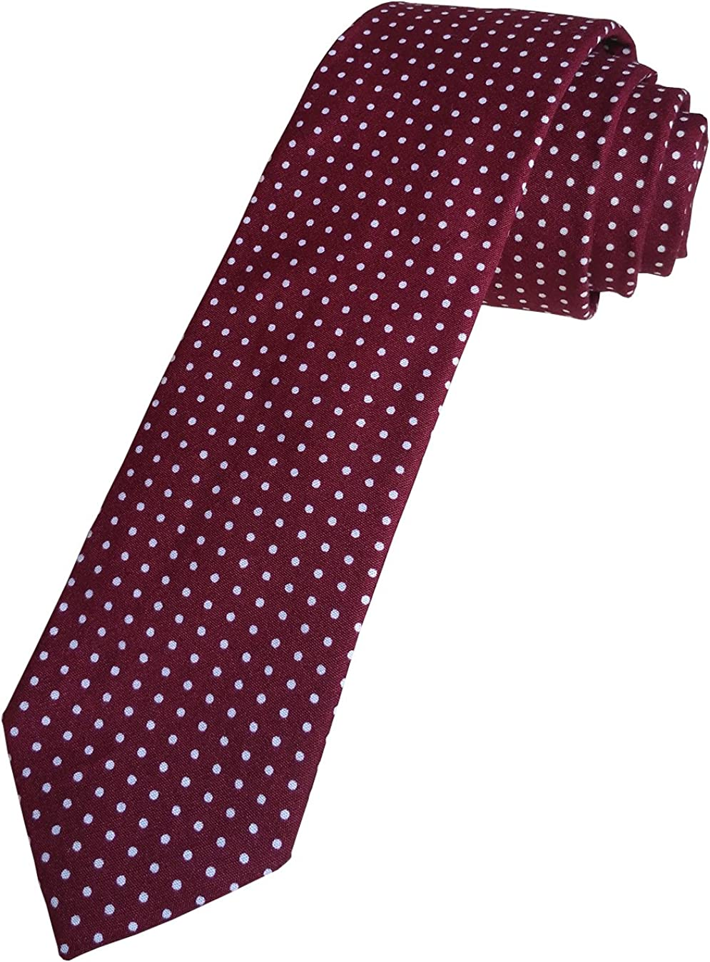 Simpowe Mens 2.36 Inches Skinny Striped Tie and Pocket Square Set