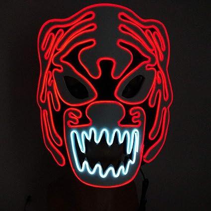 EL Wire, Luz fría de neón de Moda, Máscara de Resplandor EVA ...