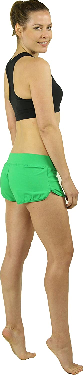 Stretch is Comfort Women's Beachwear Athletic Cotton Shorty Shorts S3042AS-$P