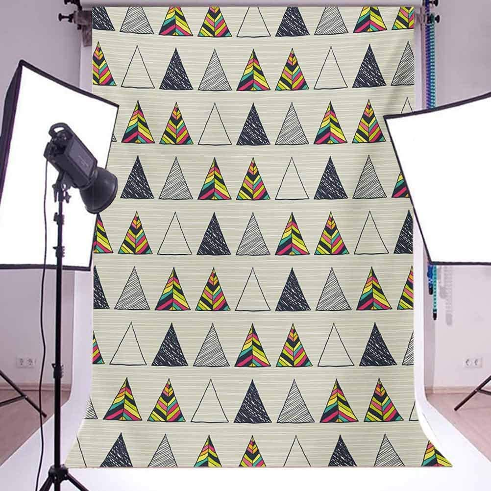 Geometric 10x15 FT Photo Backdrops,Abstract Hand Drawn Triangles with Minimalist Modern Native Boho Style Illustration Background for Child Baby Shower Photo Vinyl Studio Prop Photobooth Photoshoot