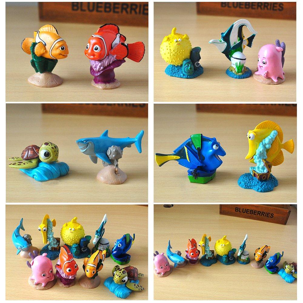 Buscando a Dory, Nemo decoración de Acuario, Resina pecera Tank Adornos Cartoon películas Clownfish Juguetes Regalos para niños: Amazon.es: Productos para ...