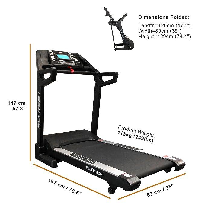 DKN Run Tech A - Cinta de Correr para Fitness, Color Negro: Amazon ...
