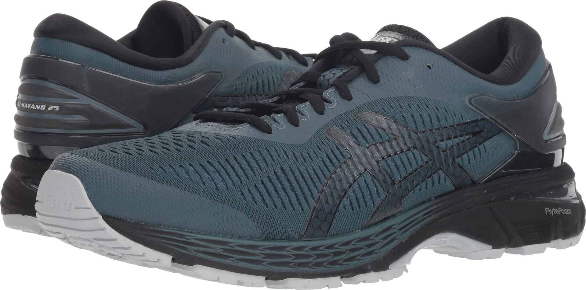 ASICS Men's Gel-Kayano 25 Running Shoe, Ironclad/Black, 10 D(M) US