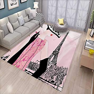 Amazon Com Teen Room Girls Bedroom Rug Sexy Woman With Hat Smoking