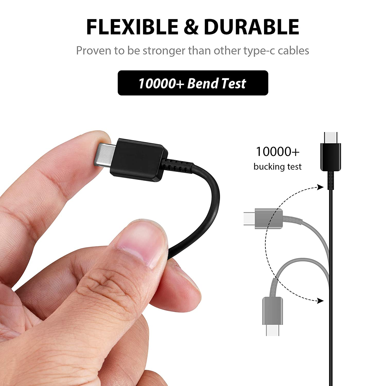 Black 3.3Ft Accessory PRO USB-C Charging Transfer Cable Works for Bang /& OLUFSEN Beoplay H4 2nd Gen!