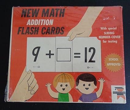 Buy EDUCARDS Vintage 1966 Math Addition Flash Cards NEW School