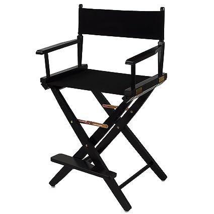 Superbe American Trails Extra Wide Premium 24u0026quot; Directoru0027s Chair Black Frame  With Black Canvas,