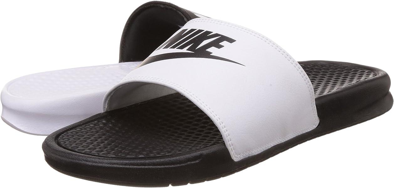 9d94a51973d5d Nike Mens Benassi JDI Mismatch Slide Sandals Black White 5 D(M) US. Back.  Double-tap to zoom