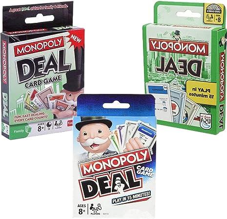 WOGQX Monopoly Juego De Cartas, Juego De Mesa, 2-8 Jugadores Juegos De Fiesta Familiares, para Niños Y Adultos (8 +), Divertido Y Más Allá: Amazon.es: Hogar