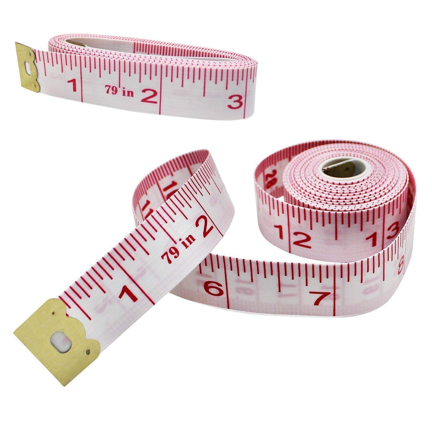 Measuring Tape for Body Measurements Flexible Fibre Glass Reverse Side Tailor Cloth Ruler 60''/150cm Bulk Prime Dressmaker Rulers by drtulz