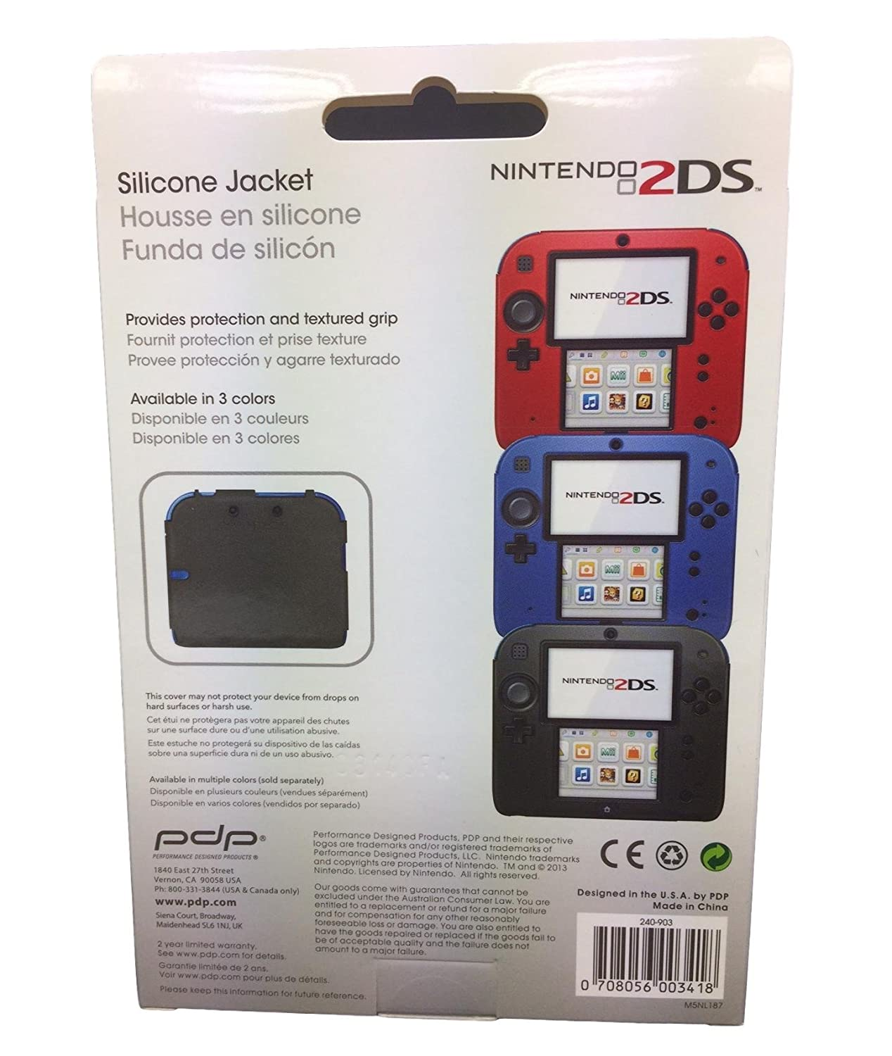 Amazon.com: PDP Silicone Case/cover for Nintendo 2DS (Blue ...