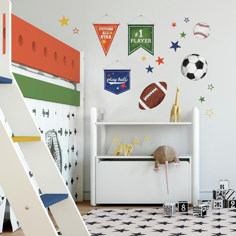 SODIAL 12-balls football soccer balls wall sticker wall tattoo stickers children room decoration R