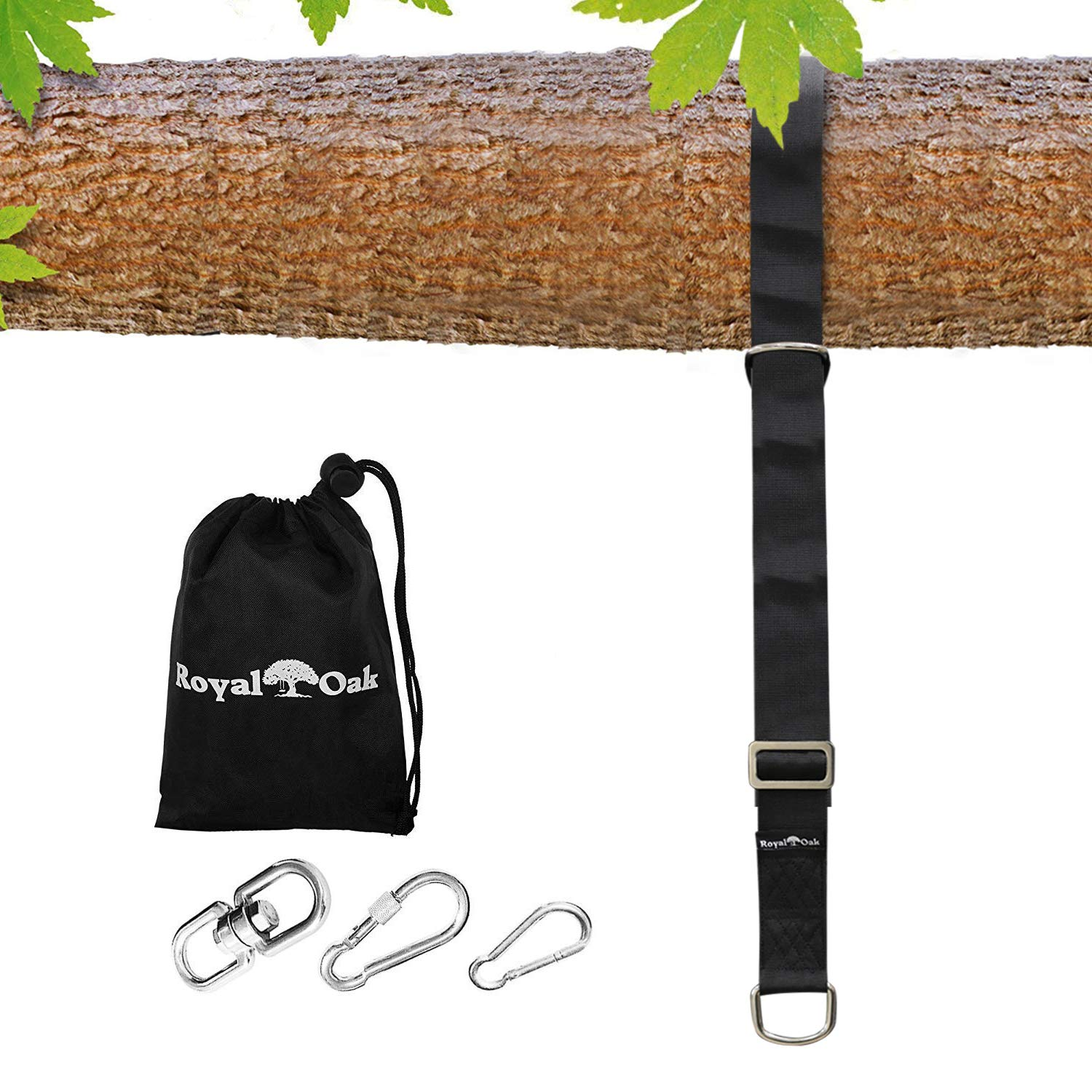 - Heavy Duty Carabiner ADJUSTABLE TREE SWING STRAP X1 Carry Bag Included 8FT Picture Instructions Holds 2200lbs EASY HANG Waterproof Bonus Spinner Perfect for Tire and Saucer Swings