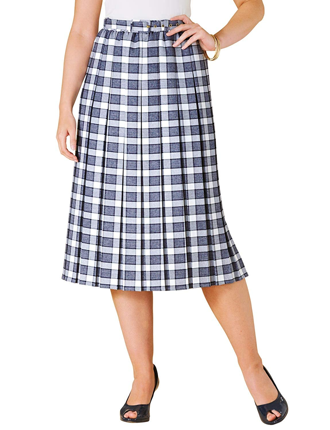 1940s Style Skirts- Vintage High Waisted Skirts Chums Ladies Womens Pleated Skirt 25 Inches £34.00 AT vintagedancer.com