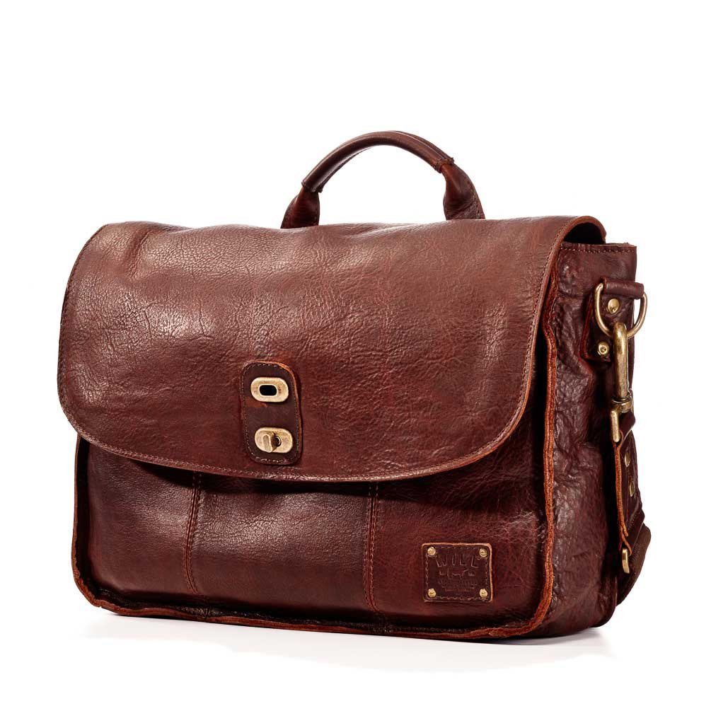 Will Leather Goods Men's Kent Messenger Bag - Brown by Will Leather Goods