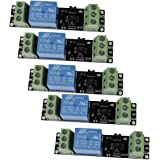Icstation 3V 1 Channel Relay Power Switch Module with Optocoupler High Level Trigger for ESP8266 Development Board (Pack of 5)