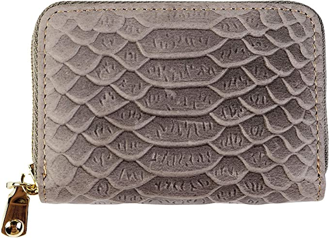 Accordian Credit Card with RFID Blocking Wallet for Women Zipper Wallet Card Holder Adorable Elephant