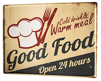 Amazon.com: Tin Sign XXL metal plate plaque Kitchen Good ...