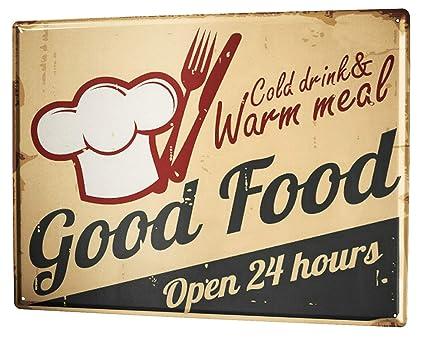 Amazon.com: Tin Sign XXL metal plate plaque Kitchen Good ...