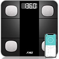 Bluetooth Body Fat Scale, High Precision Sensor Scales Digital Weight and Body Fat, Smart Bathroom Scales with Durable…