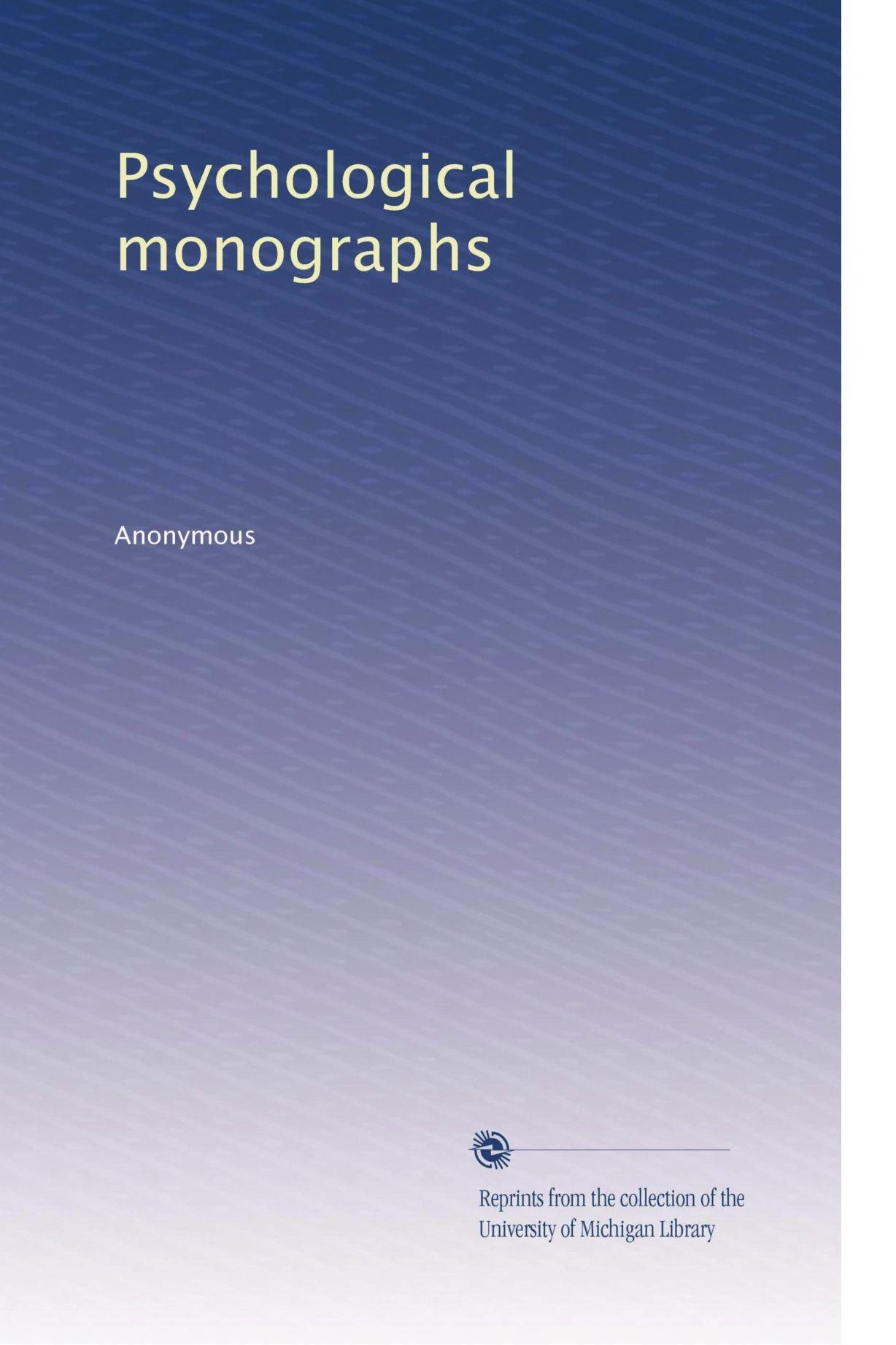 Psychological monographs (Volume 5) pdf