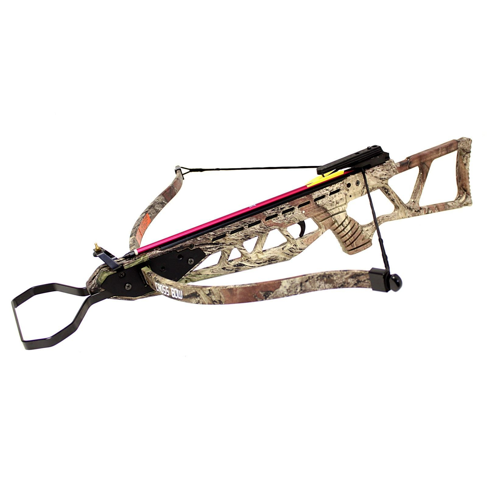 Hunting Crossbows 120 lbs Camo Brown Hunting Crossbow Archery bow with 2 Arrows Bolts Crossbow Bolts
