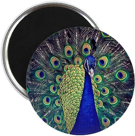 Fridge Magnet BLUE PEACOCK