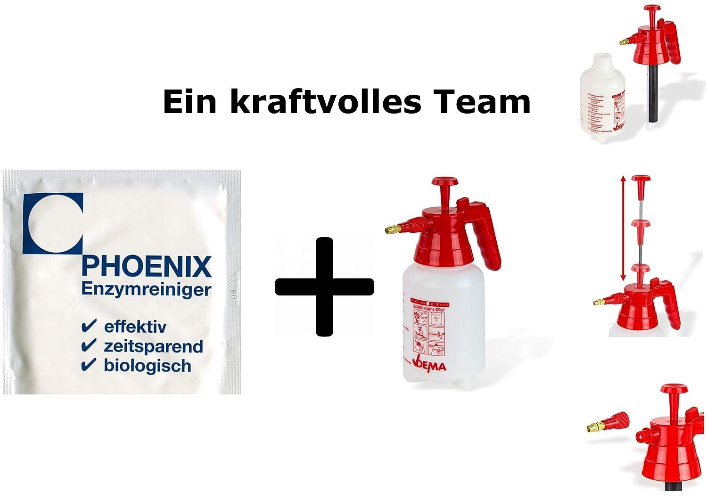 Phoenix enzima Limpiador Gato urinent Ferner Gato orina Olor eliminador 5 x 20 gr Bolsa Sello 5,0 - 7,5 L, 100% Biodegradable: Amazon.es: Productos para ...