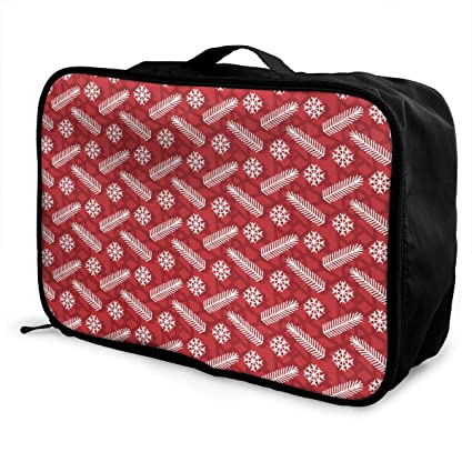 ce5f972e2b Image Unavailable. Image not available for. Color  HUEH HUFW Ladies  Snowflake Travel Duffel Bag Waterproof Fashion Lightweight Large ...