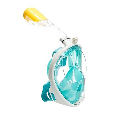 Tauchmaske,Schnorchelmaske,Tauchmasken Vollgesicht,Schnorchelmaske Kinder Erwachsene mit Anti-Beschlag Beschichtung 180 ° Vie