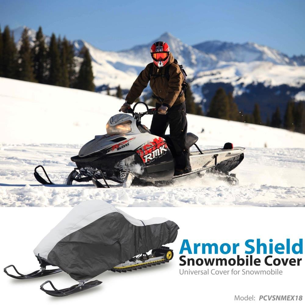 "with Dual Air Vents Heavy Duty Fabric Pyle 118/"" Universal Snowmobile Cover"
