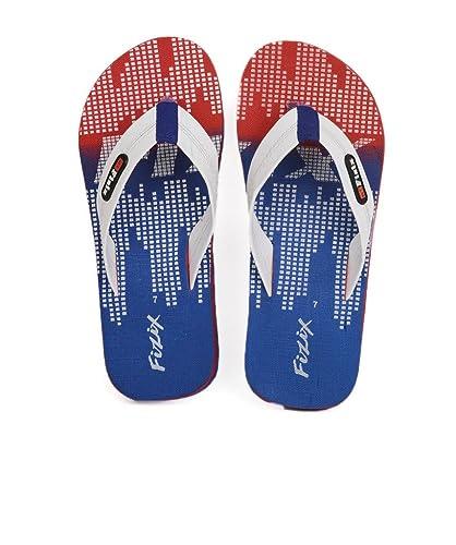 e6ca5ae56a4f19 Frestol Men s Blue Flip Flops Thong Sandals-7 India UK (40.5 EU ...