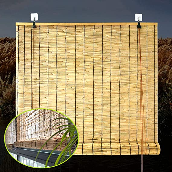 F-XW Toldo de Bambú, Estors Enrollable, Cortina de Decorativo, Persianas Enrollable para Balcones/Porche, Natural 145x180cm: Amazon.es: Hogar