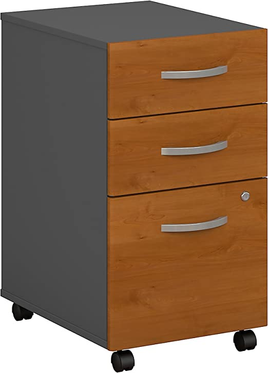 Amazon Com Series C 3 Drawer Mobile File Cabinet In Natural