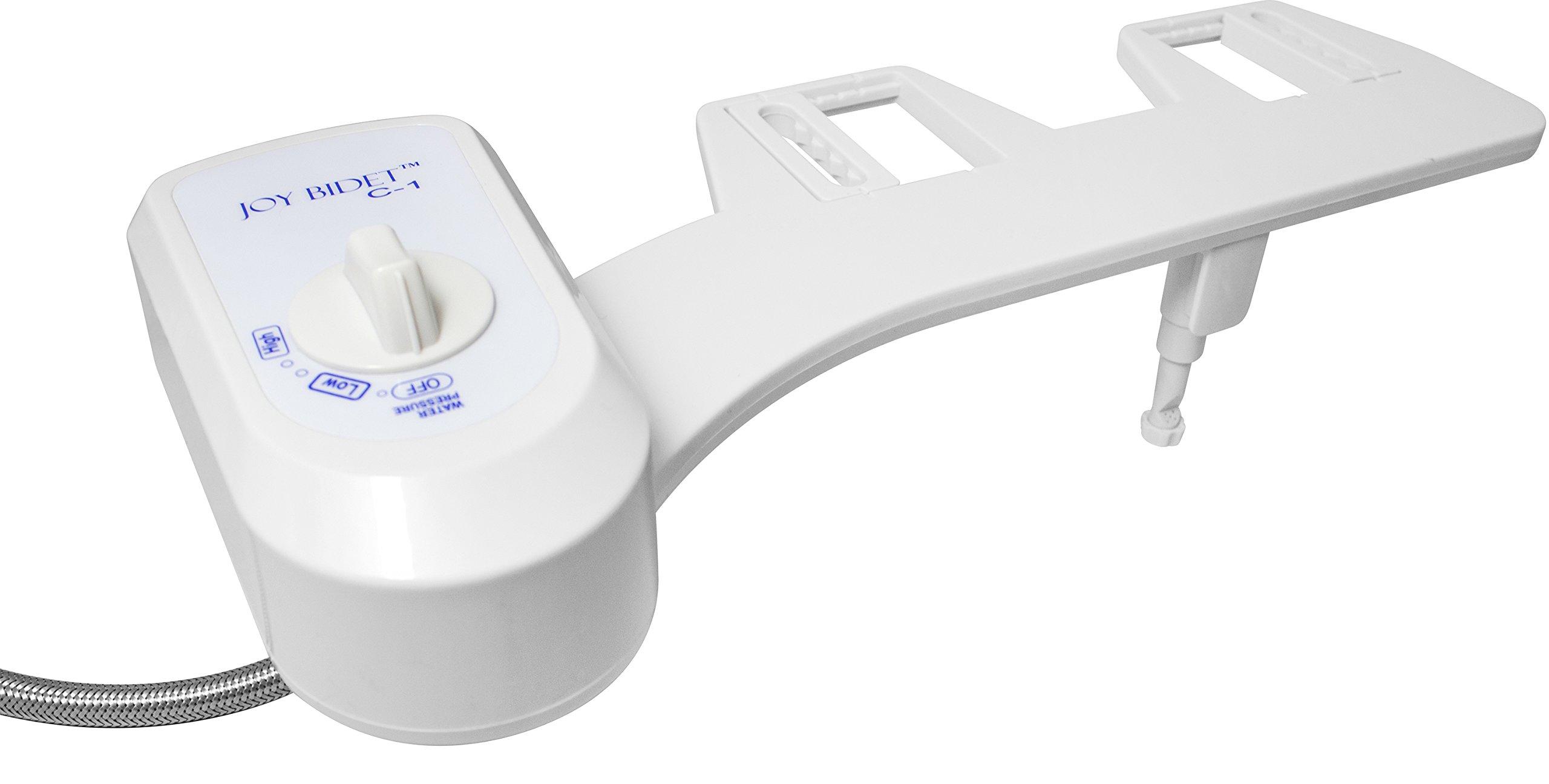 Joy Bidet C-1. Cold Water. Non-Electric. Toilet Attachment. (Metal Hose)