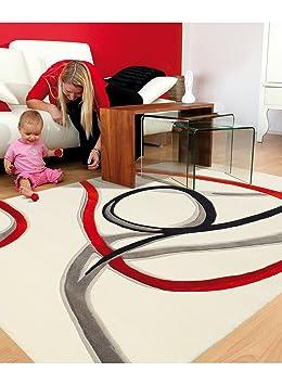 Arte Espina Tapis Red Trace Blanc 120 X 180 Cm Tapis Moderne