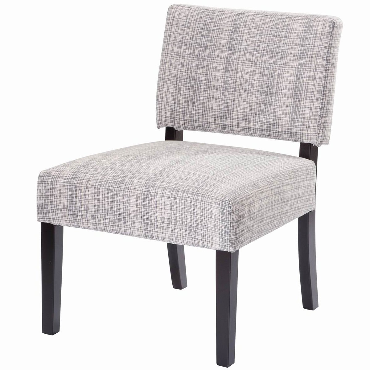 Amazon com giantex dining chair armless linen fabric upholstered wood modern living room furniture chairs