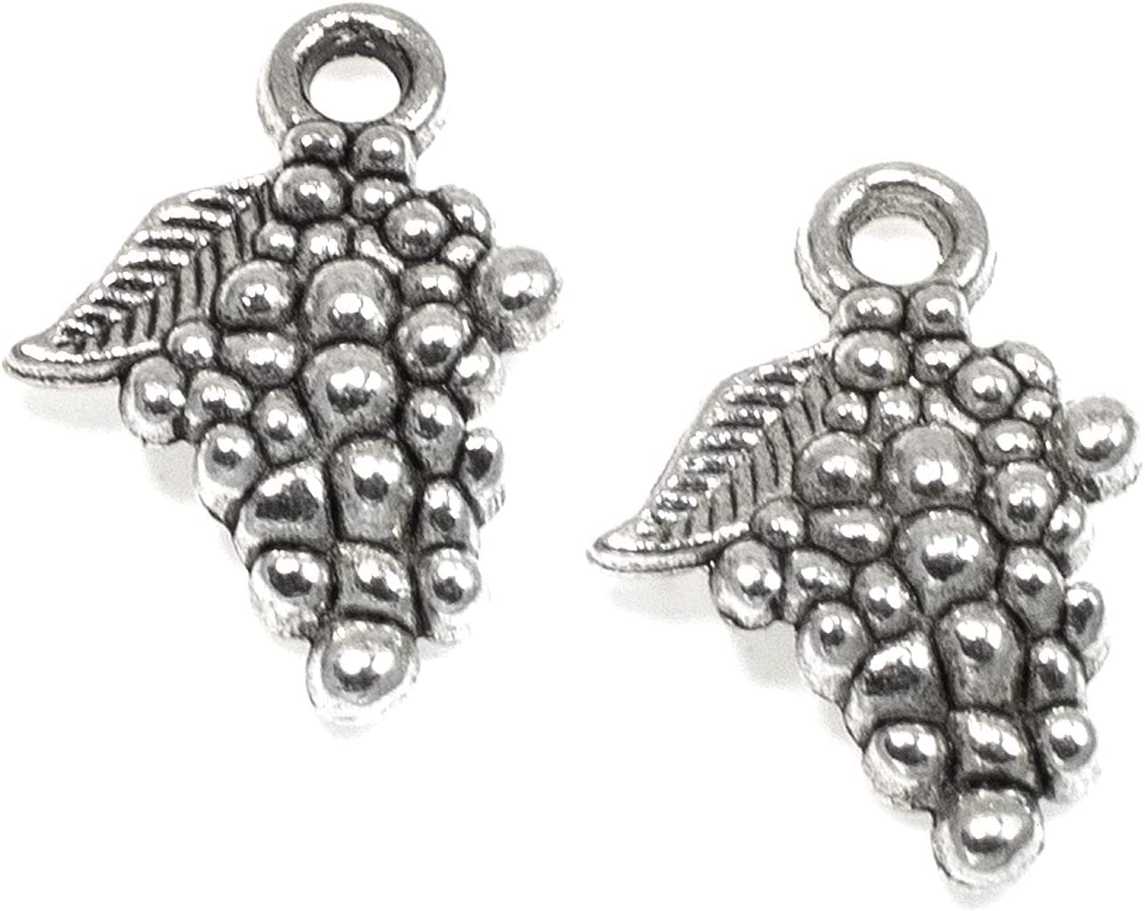 G22680 5 Silver Fruit Charms Antique Silver Plated Charms 20x18mm