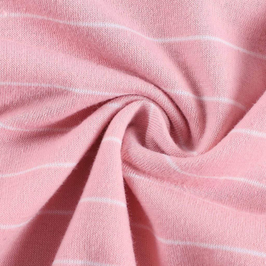 Lawzl Fashion Women Striped Short Sleeve O Neck Bandage Casual T-Shirt Tops Blouse