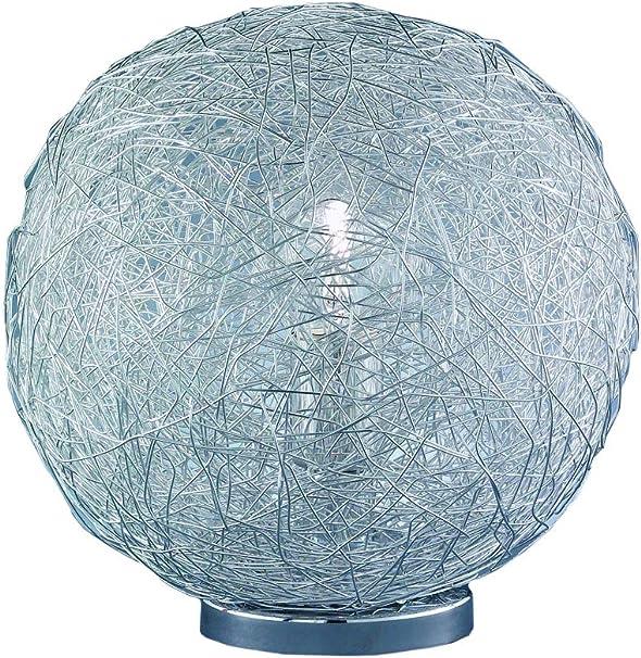 Wofi 802101010300 Dakota Lampe de Table E27 60 W Chromé 30 cm