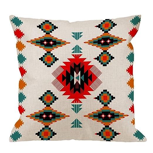 Dinb Mighjifes - Funda de cojín Cuadrada de algodón Tribal ...